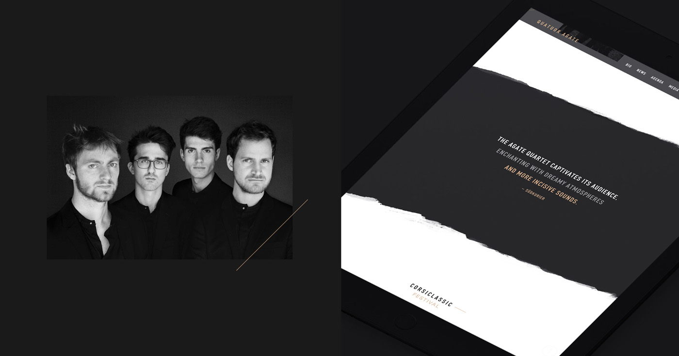quatuor agate french string quartet quatuor à cordes webdesign website ipad