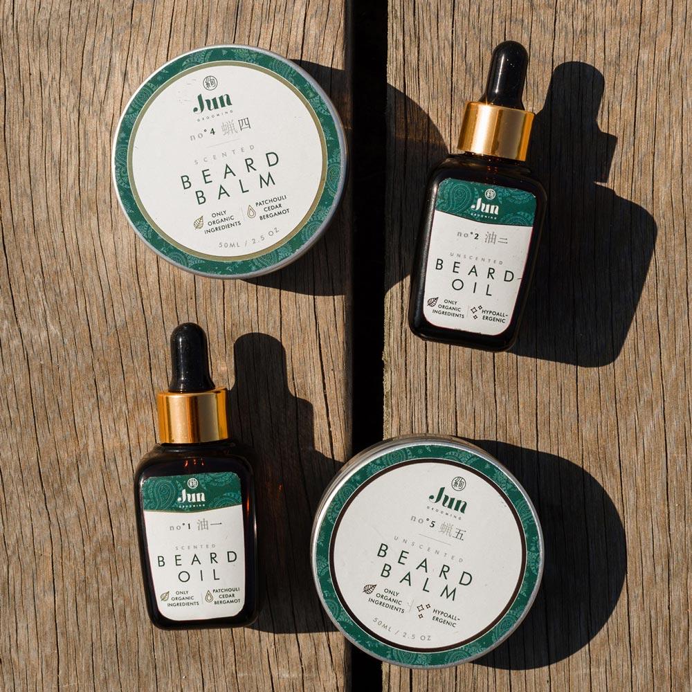 jun grooming organic cosmetics branding