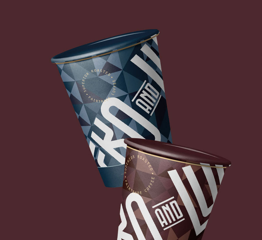 coffee cups mockups graphic design ecko lupo branding coffee roasters
