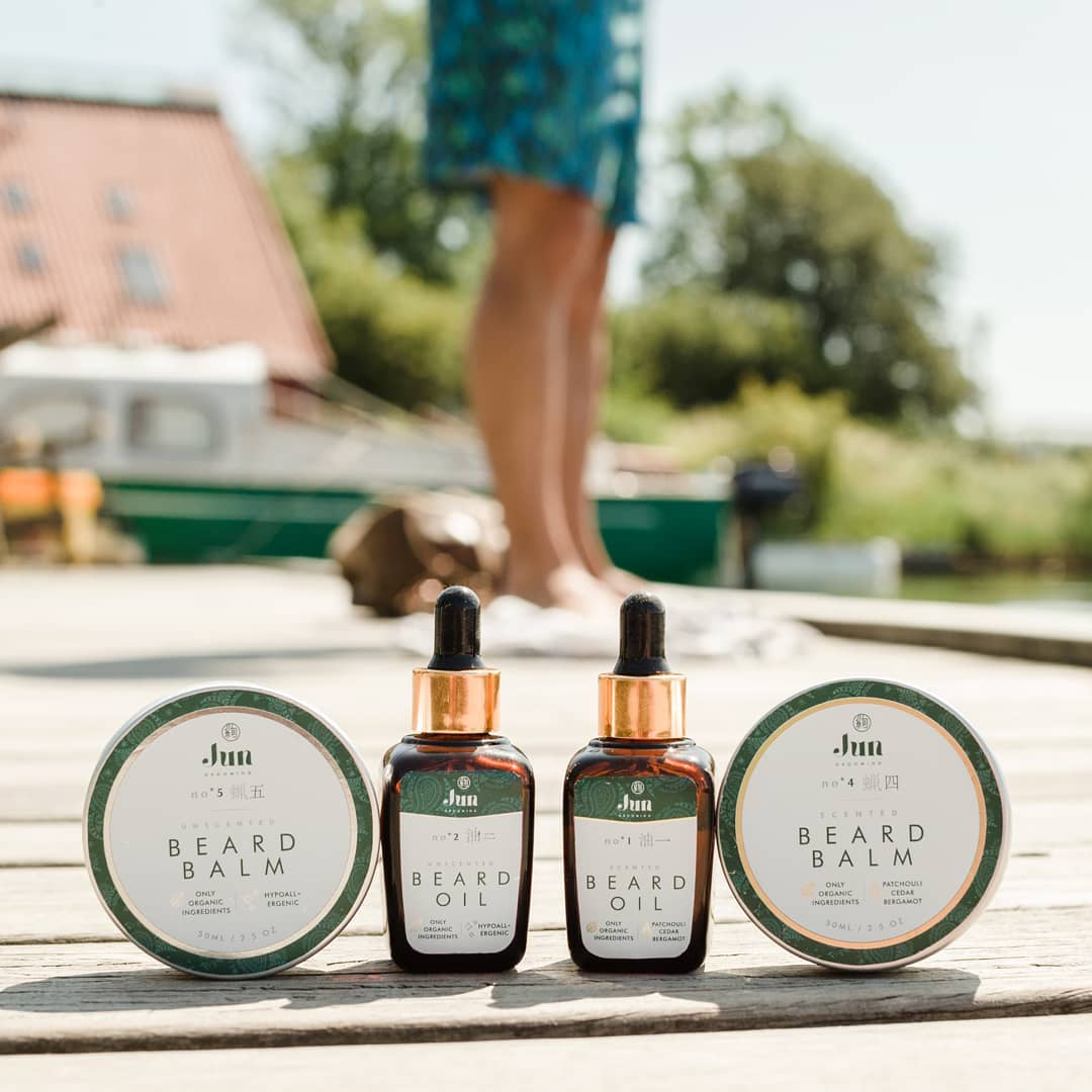 jun grooming organic cosmetics branding products