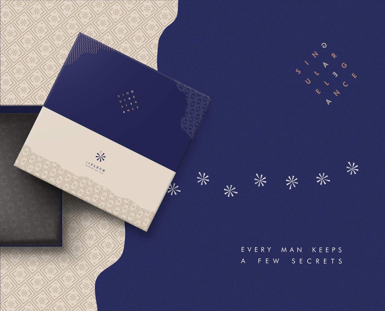 lafleur cosmetics branding gift box mockup