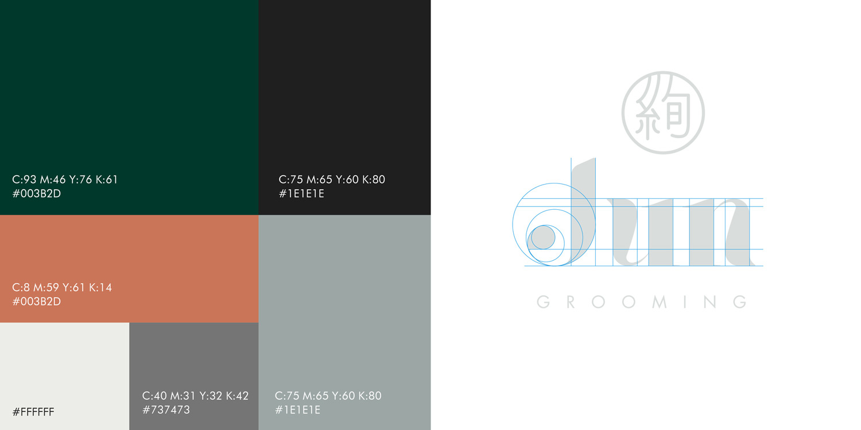color palette jun grooming organic cosmetics branding