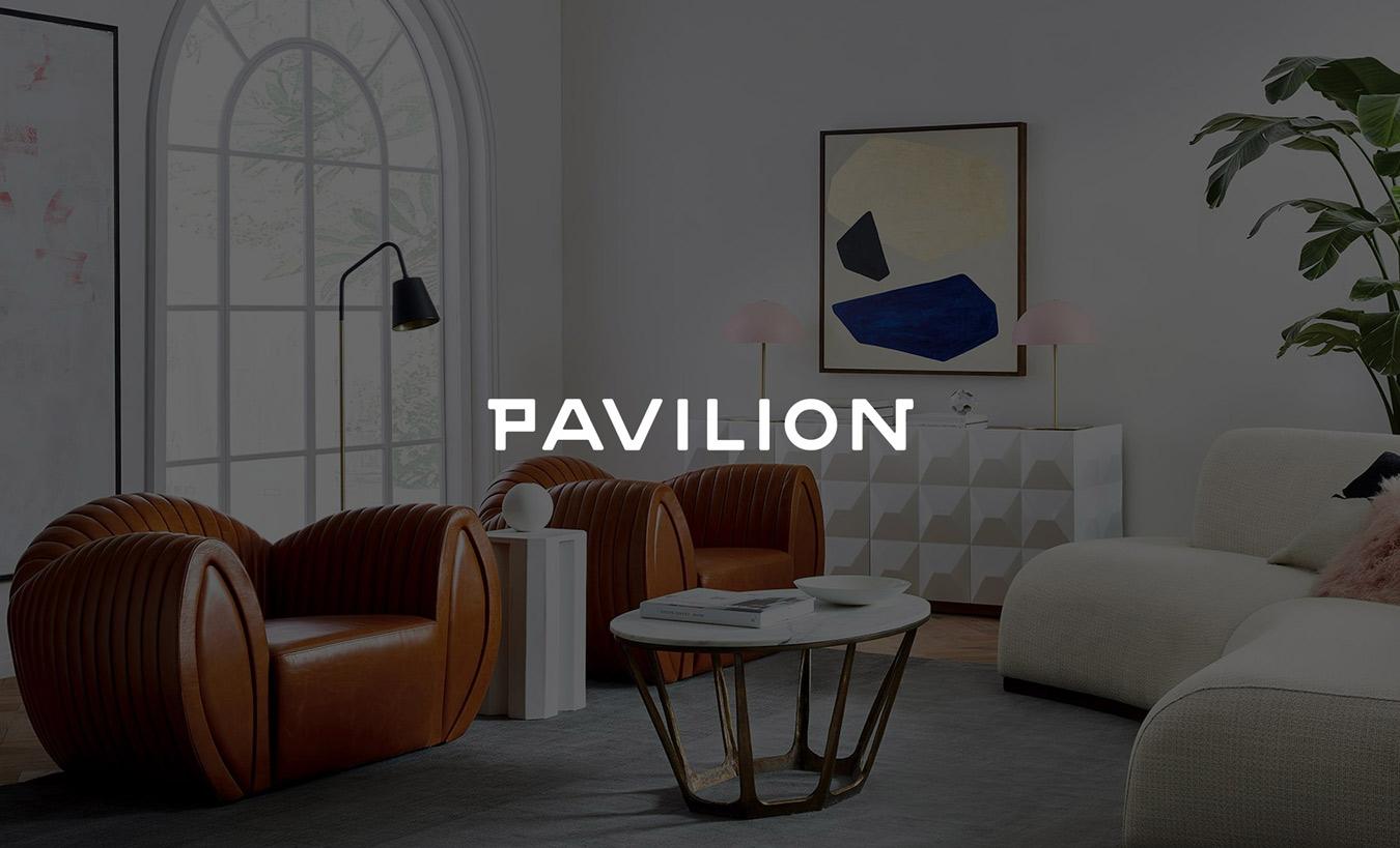 pavilion branding design furniture logo branding scene