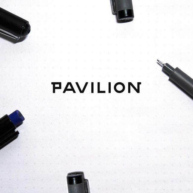 pavilion logo drawing design furniture logo branding scene