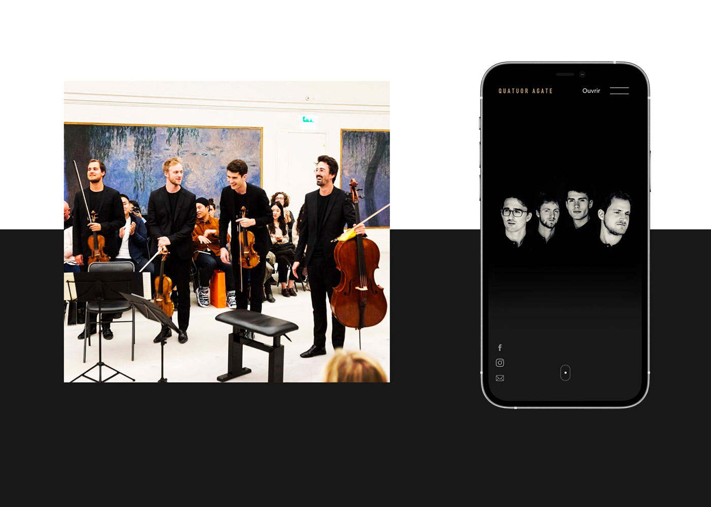 quatuor agate french string quartet quatuor à cordes webdesign website