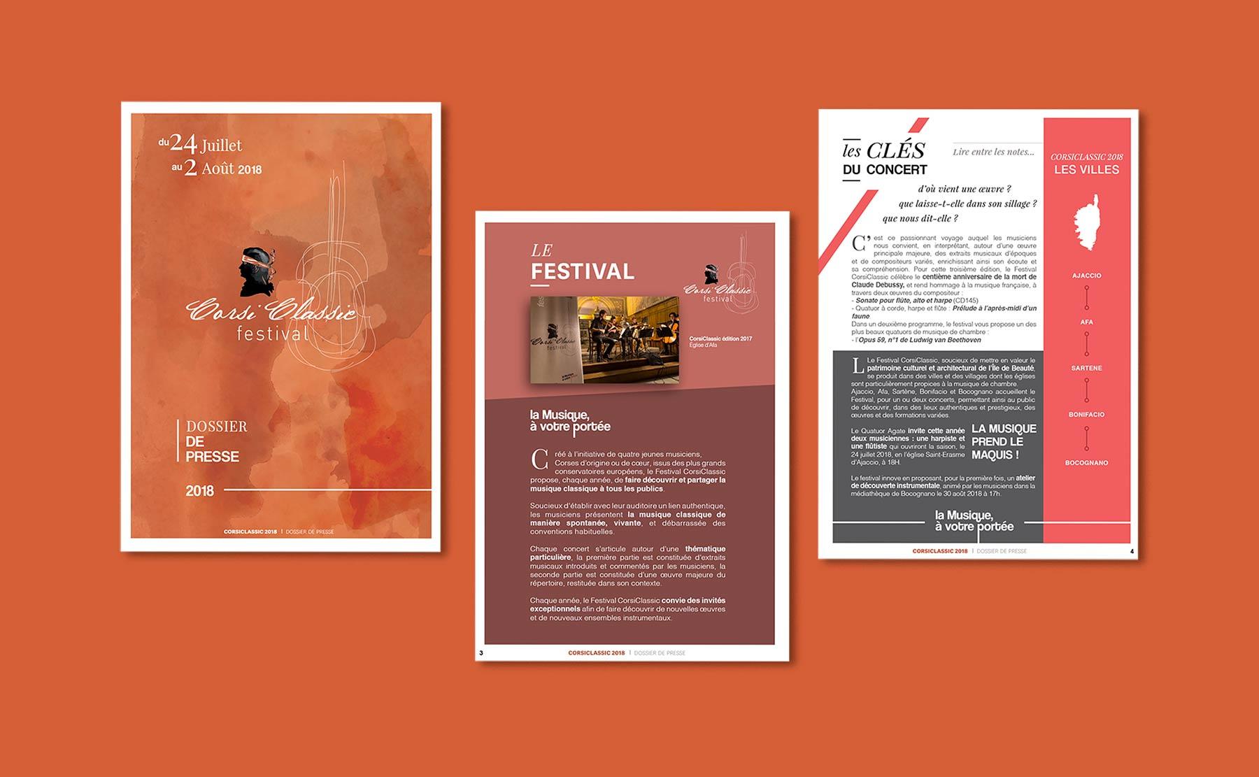 Corsiclassic festival de musique de Chambre en Corse, communication et dossier de presse