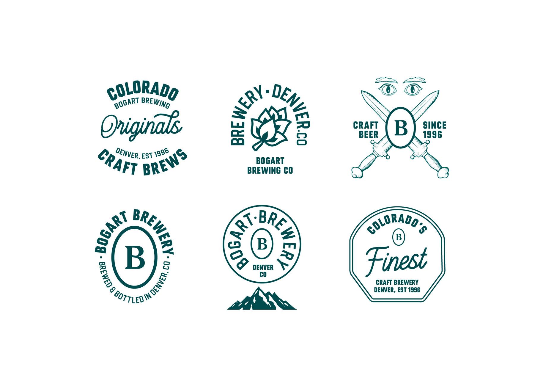 Bogart brewery craft brewery branding lockup badge design vintage Kalistostudio craft beer design