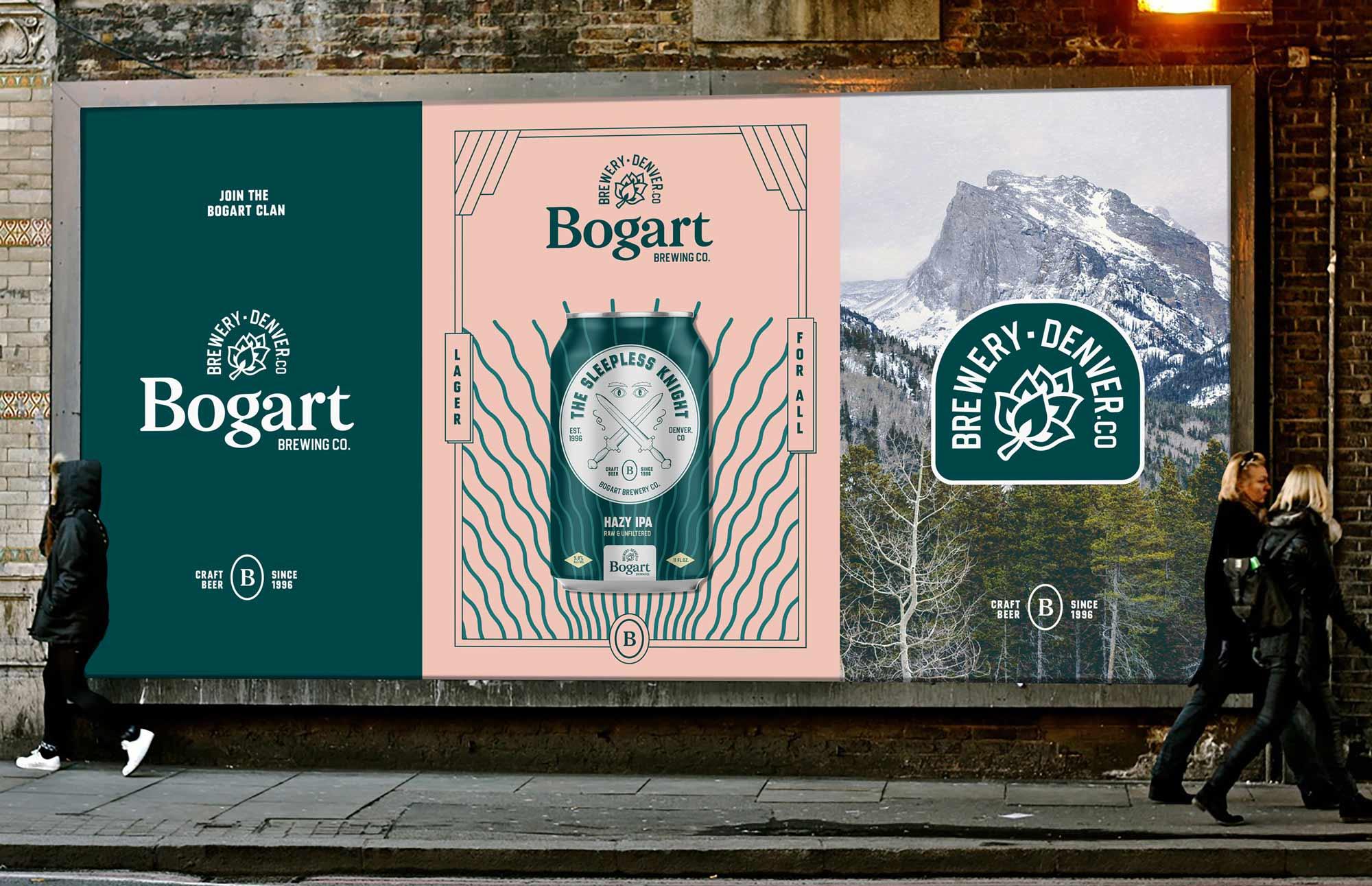 Bogart brewery craft brewery branding  street wall posters mockup vintage Kalistostudio craft beer design